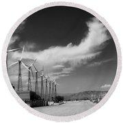 Turbine Town Palm Springs Round Beach Towel