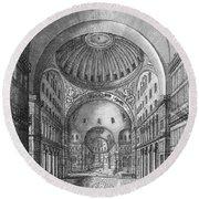 Turkey: Hagia Sophia, 1680 Round Beach Towel