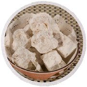 Turkish Delight In A Bowl Round Beach Towel
