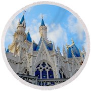 Turrets And Spires Round Beach Towel