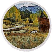 Turrett - Homage Vangogh Round Beach Towel