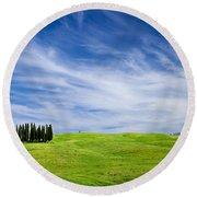 Tuscany Cypress Round Beach Towel
