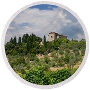 Tuscany Villa In Tuscany Italy Round Beach Towel