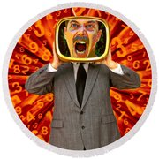 Tv Man Round Beach Towel
