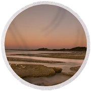 Twilight After A Sunset At A Beach Round Beach Towel