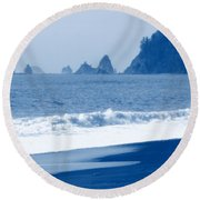 Twilight Blue Round Beach Towel