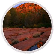 Twilight Cathedral Round Beach Towel by Mike  Dawson