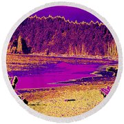 Twilight On La Push Beach Round Beach Towel