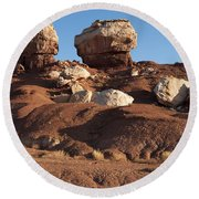 Twin Rocks Capitol Reef Np Round Beach Towel