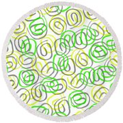 Twirls Round Beach Towel