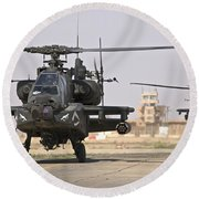 Two Ah-64 Apache Helicopters Return Round Beach Towel