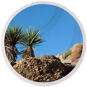 Two Bunch Gold Butte Round Beach Towel