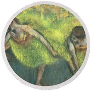 Two Dancers Relaxing Round Beach Towel