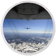 Two Ec-130j Commando Solo Aircraft Fly Round Beach Towel