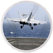 Two Fa-18c Hornet Strike Fighters Round Beach Towel