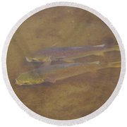 Two Fish In The Laguna Madre Round Beach Towel