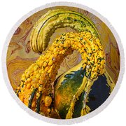Two Gourds Round Beach Towel