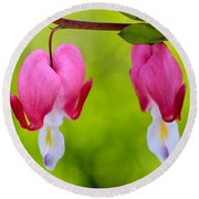 Two Hearts Round Beach Towel