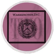Two In Light Pink Round Beach Towel