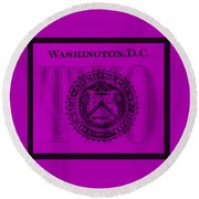 Two In Purple Round Beach Towel