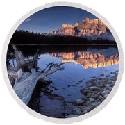 Two Jack Lake Banff Canada Round Beach Towel