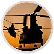 Two Royal Air Force Ch-47 Chinooks Take Round Beach Towel