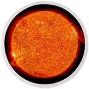 Two Solar Prominences Erupt Round Beach Towel