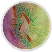 Two Tone Frac Abstract Round Beach Towel