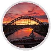 Tyne Bridges At Sunrise IIi Round Beach Towel