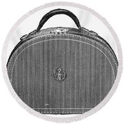Typewriter Case, 1889 Round Beach Towel