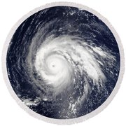 Typhoon Higos Round Beach Towel