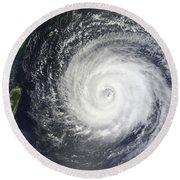 Typhoon Muifa East Of Taiwan Round Beach Towel