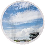 Typical Dutch Lock And Control Room Round Beach Towel