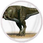 Tyrannosaurus Rex, A Prehistoric Era Round Beach Towel
