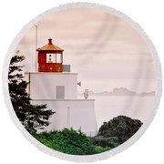 Ucluelet Lighthouse Round Beach Towel