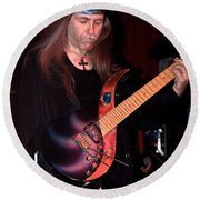 Uli Jon Roth And His Sky Guitar Round Beach Towel