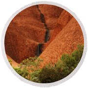 Uluru Australia 4 Round Beach Towel