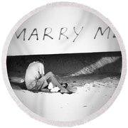 Unconditionally Round Beach Towel