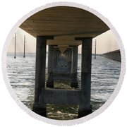 Under Seven Mile Bridge Round Beach Towel
