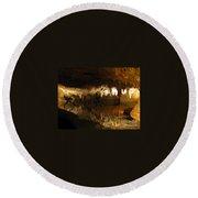 Underground Lake 02. Luray Caverns Va Round Beach Towel