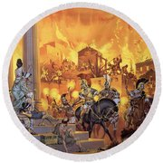 Unidentified Roman Attack Round Beach Towel