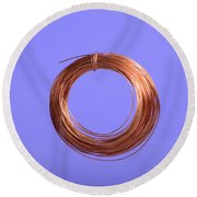 Uninsulated Copper Wire Round Beach Towel
