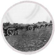 Union Artillery, 1860s Round Beach Towel