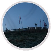 Union Hill Round Beach Towel