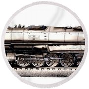 Union Pacific 4-8-8-4 Steam Engine Big Boy 4005 Round Beach Towel