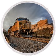 Union Pacific 6807 Round Beach Towel