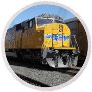 Union Pacific Locomotive Trains . 5d18821 Round Beach Towel