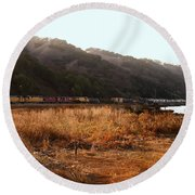 Union Pacific Locomotive Trains . 7d10546 Round Beach Towel