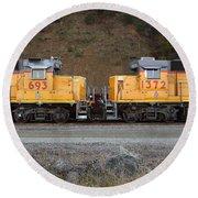 Union Pacific Locomotive Trains . 7d10573 Round Beach Towel