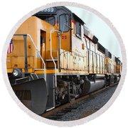 Union Pacific Locomotive Trains . 7d10588 Round Beach Towel